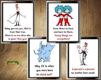 Dr Seuss Wall Art Etsy