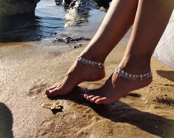 EDEN anklet by Barefoot Gypsea jewels, indian anklet, gypsy payal, boho ankle bracelet