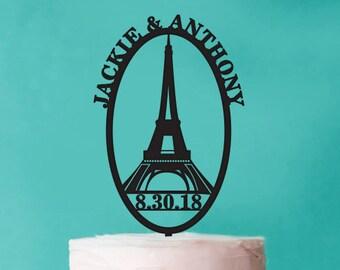 Paris Personalized Cake Topper (PPD-PARISKT561)