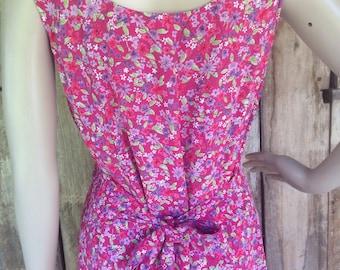 Pink maxi dress vintage 90s long grunge hippie boho bohemian summereevess tie back dress
