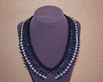 Stunning hand woven beaded collar