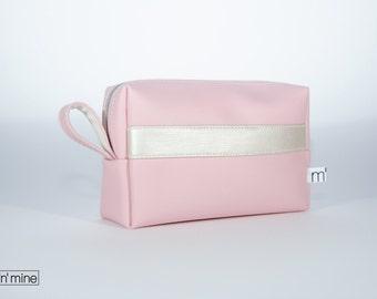 Bag Meg - Pink / Pearl - make up bag, make-up bag, pencil case, storage, jewelry, travel bag, toiletry women