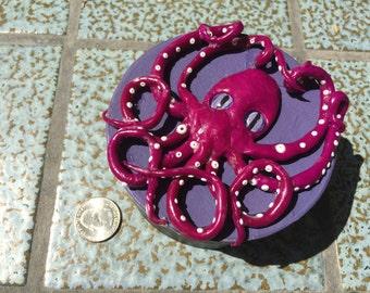 Purple Octopus Treasure Box