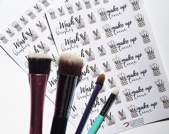 Make up brushes stickers