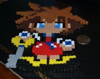Kingdom Hearts Sora Perler Bead Sprite
