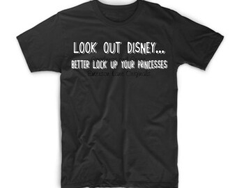 Look Out Disney...Better Lock Up Your Princesses - Prince Charming Has Arrived!  Disney Family Vacation T-Shirt Boys Men - Mickey Monogram