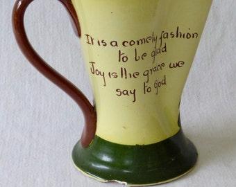 Torquay Pottery Motto Ware Pinch Pitcher