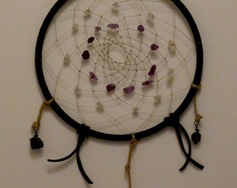 Dreamcatcher with Amethyst and Quartz