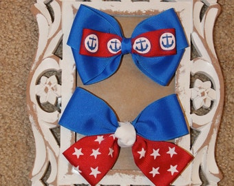 Red White and Blue Bows