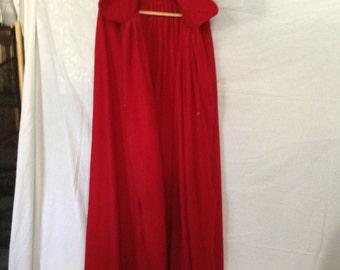 Red Polar fleece cloak.