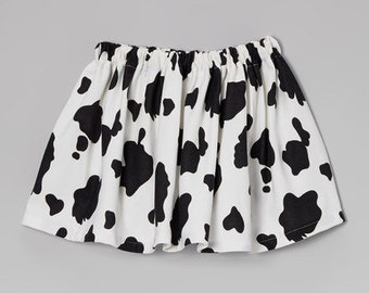 Western Cow Twirl Skirt