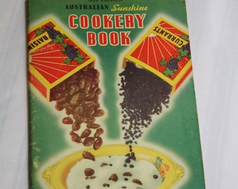 Vintage Cook Book - Australian Sunshine Cookery book 1939