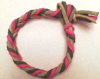 "Chevron Braided ""aromatherapy"" Essential Oil Diffuser Bracelet, Multicolor"