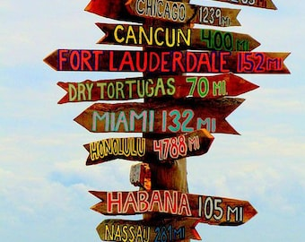 Set of 9 Tiki Signs Directional Signs Tiki . Directional Sign . Destination & Mileage . Yard art