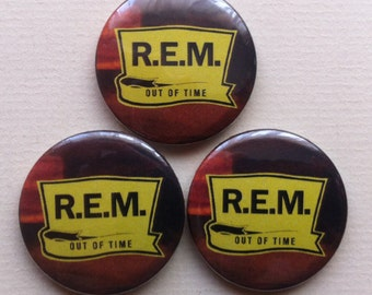 "R.E.M. ""Out of Time"" Pinback Button"