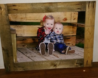 Custom sized Rustic Picture Frames