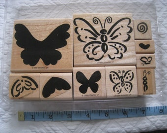 Flutterby Butterfly 1999 Stampin' Up! Rubber Stamp Set