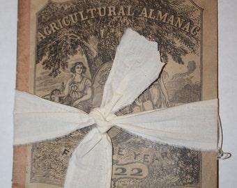 Vintage 1922 Agriculture Almanac - Vintage Papers - Vintage Ephemera