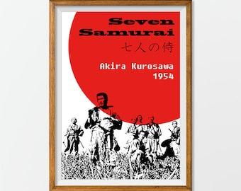 Seven Samurai Print Poster Wall Art Akira Kurosawa Film Printable