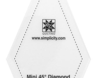 Mini 45 Degree Diamond with Key Chain Acrylic Template