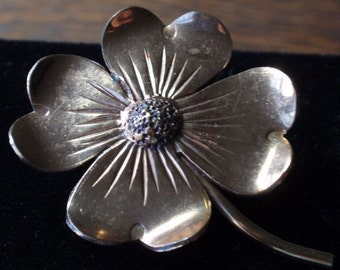 Copper Daisy Flower Brooch