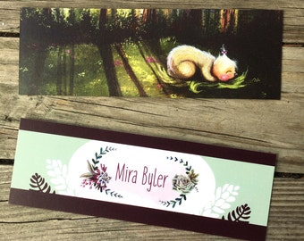 Art Bookmarks (2 double-sided matte cardstock bookmarks)
