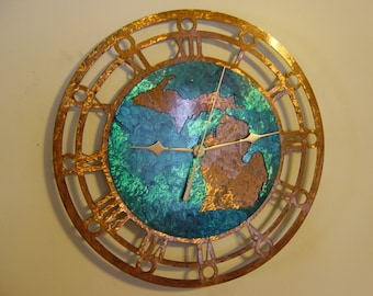 Michigan Metal Art Clock - extra large