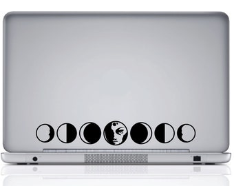 Phases Of The Moon Vinyl Decal