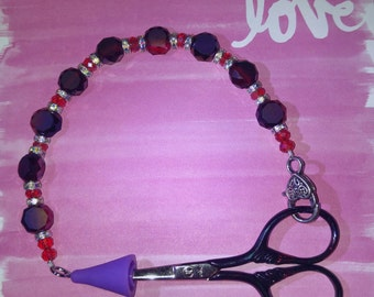 Red and Purple Scissor Fob