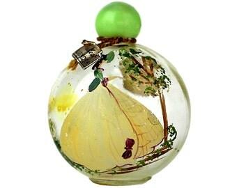 1920s Vintage Hand Painted Perfume Bottle John Wanamaker Philadelphia Redleaf Lavender Art Deco