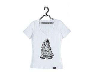 Women's T-Shirt Genteel Spaniel W-W