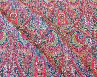 cotton fabric Valdrome provencale Provence France emerald pink colourful
