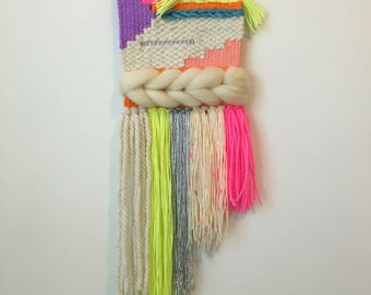Small Neon Woven Wall Hanging