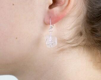 White seaglass earrings «White Tenderness»