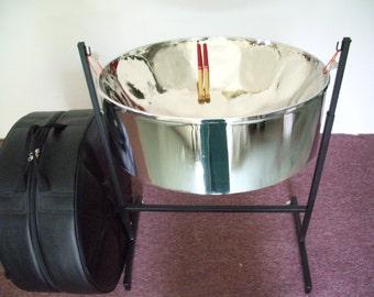 KaribPan - Lead ''C'' (Soprano) Steel Drum Package w/ Case, Stand & Mallets