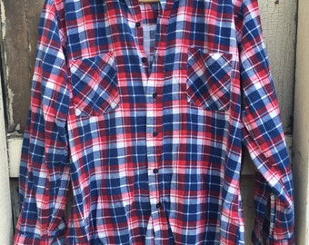 The Men's Shop Red/Blue Flannel