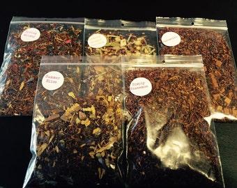 5 Samples of your choice! Pick 5 great teas! Luxury Loose tea -loose leaf Tea- High Grade Tea- Gypsy-soul-tea-healthy tea-wedding gift-gift