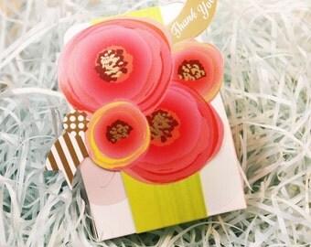 100 x Wedding favor box - Thank You Bouquet