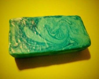 Homemade Spearmint Goats Milk Soap