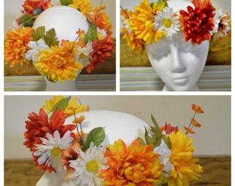 Summer Sunset Flower Crown