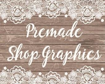 Facebook Banner - Instant Download - Premade Facebook Banner - Facebook Shop Graphics