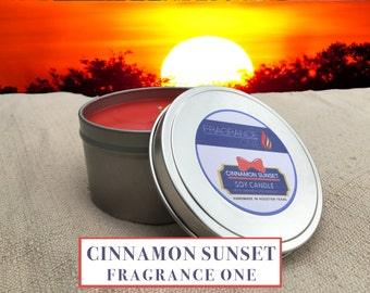 Cinnamon Sunset Soy Candle - Tin