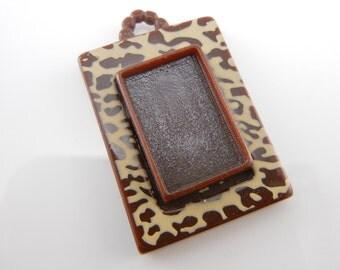 Leopard Print Resin Bezel