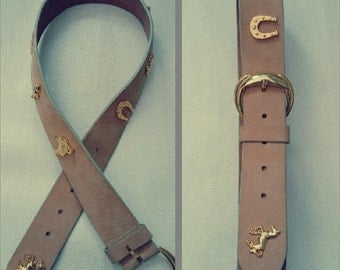 Vintage Schuchard & Friese real leather cowboy belt