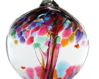 Hand Blown Art Glass Kitras FRIENDSHIP- 6 inch
