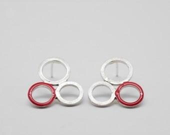 Flower earrings silver