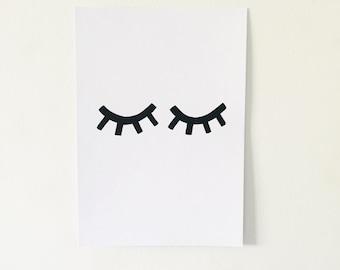Sleepy Eyes Mini Print