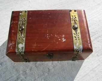 Wood Jewelry Box, Wooden Vintage Box, Cedar box, vintage box, vintage wood box, home decor