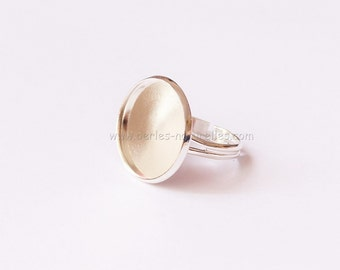18mm - 1/10/50/100 - Cabochon Ring - Antique Silver Adjustable Cabochon Ring