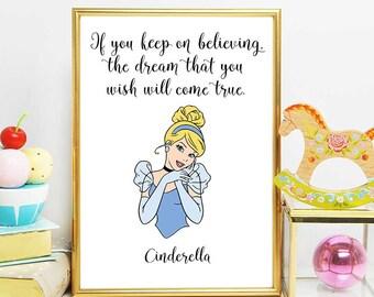 Cinderella Quotes Classy Cinderella Quotes  Etsy